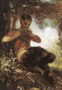 A Faun (detail), by  Pál Szinyei Merse, public domain, via Wikimedia Commons