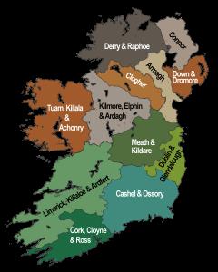Anglican Ireland. (Church of Ireland, via WIkimedia Commons, CC BY-SA 3.0)